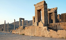 Persepolis is pharaoh-like in its scale, Iran.