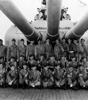 Some members of the crew of the USS Indianapolis before 1945.
