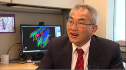 Dr. Clark Chen discusses the advantages of using cutting edge imaging tools at his office on July 17, 2014.