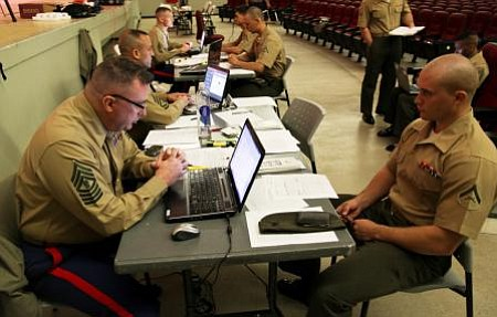 Headquarters Marine Corps Special Duty Assignment Screening Team members scre...