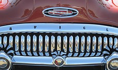 Close-up photo of the grill on a Buick.