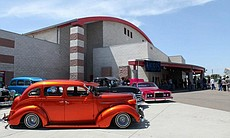 Lowriders on display at Sweetwater High School.