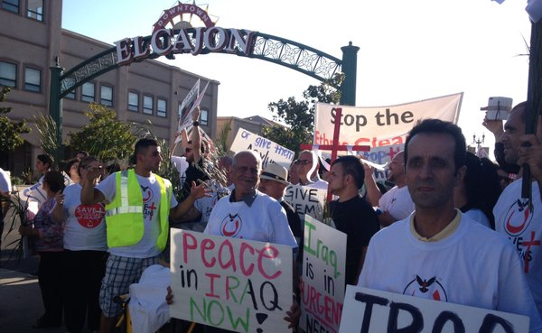 San Diego Chaldeans and community members march on Main S...