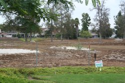 The former Escondido Country Club golf course has turned brown since its deve...