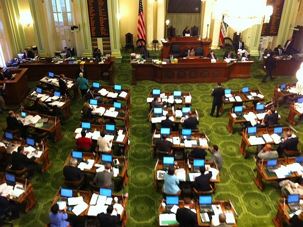 The California Assembly Chamber, Aug. 20, 2014.