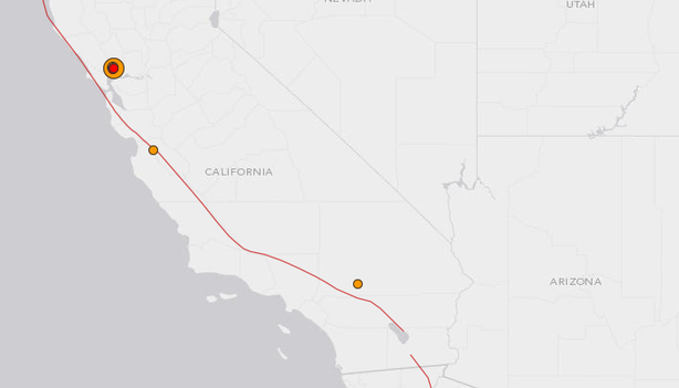 A 6.0-magnitude earthquake rocked the San Francisco Bay area at about 3:20 a.m. PT, the U.S. Geological Survey reports, Aug. 24, 2014.