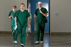 Shaun Dingwall as Dr. Charlie Enderbury, Jack Davenport as Dr. Otto Powell and Oliver Chris as Dr. Richard Truscott.