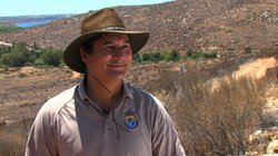 Andy Yuen, project leader for the San Diego National Wildlife Refuge Complex,...