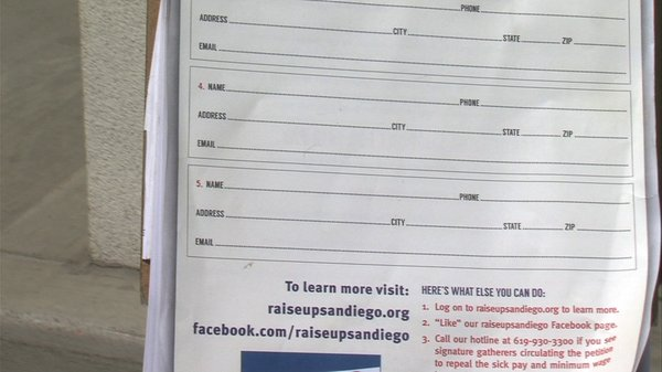 The Raise Up San Diego petition that asks voters not to s...