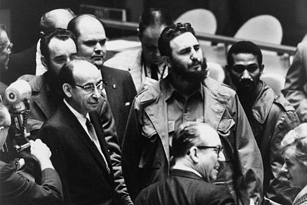 Fidel Castro at the United Nations General Assembly in 1960.
