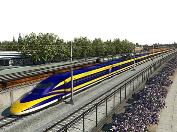 A rendering of the proposed high speed rail project.