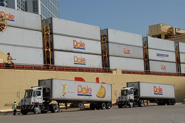 Dole Trucks at the Port of San Diego on May 13, 2008.