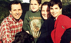 Ron Suskind, his wife Cornelia and sons Walt an...