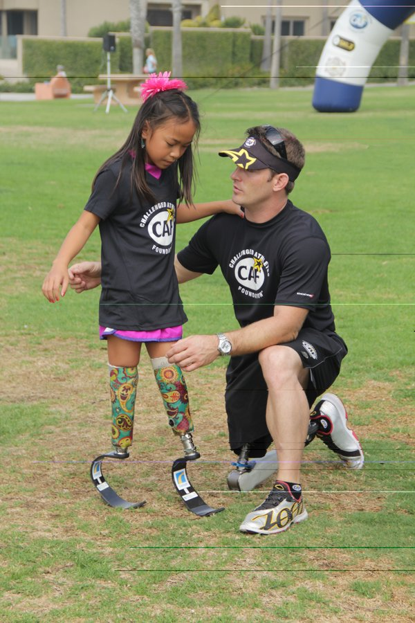 Ricks with Haven, a young girl from Missouri whom he has ...
