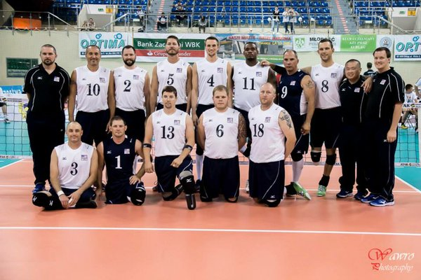 Ricks and the U.S. Paralympic Men's Volleyball team.