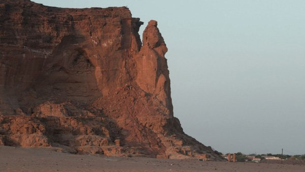 Jebel Barkal (Pure Mountain) in the shadow of the Sudanes...