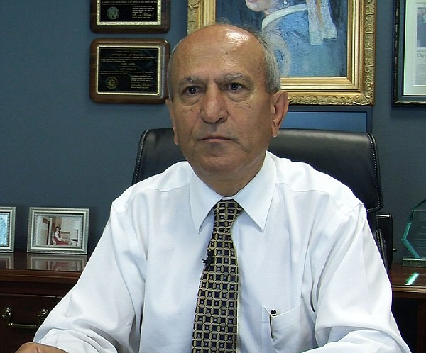 Sam Abed, 62, in his mayoral office at Escondido City Hall, Sept. 10, 2014.
