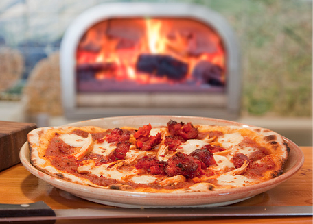 Oven cooked pizza
