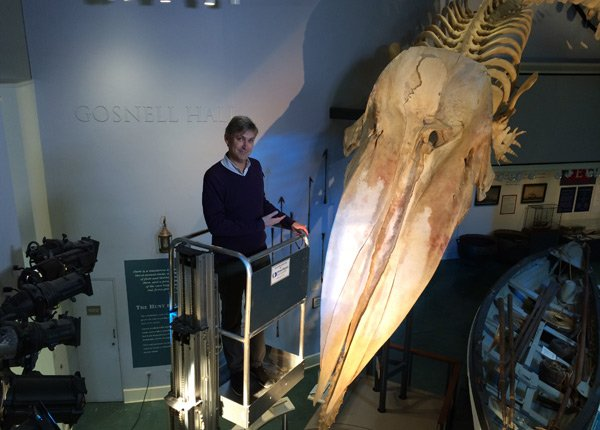 Steven Johnson visits the Nantucket Whaling Museum with s...