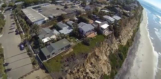 Birds eye view of the Pacific View school site in Encinitas, 2014