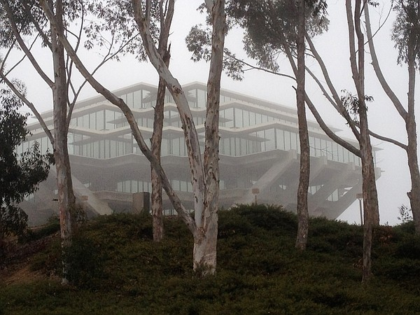 The UCSD campus on a foggy morning, May 21, 2012