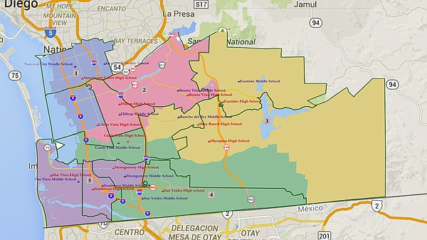 Map of the Sweetwater school district and how each of its...