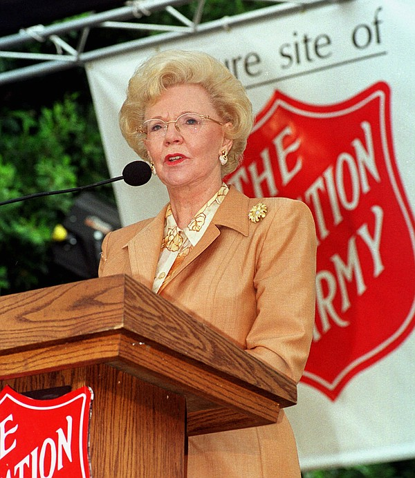 Joan Kroc appears at a Salvation Army ceremony in San Die...