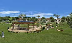 Rendering of a park proposed as part of the Lak...