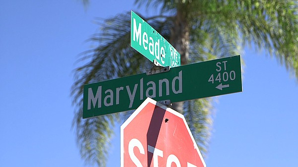 Maryland Street at Meade Avenue in San Diego's University...