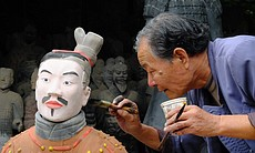 Painting a replica figure #1.