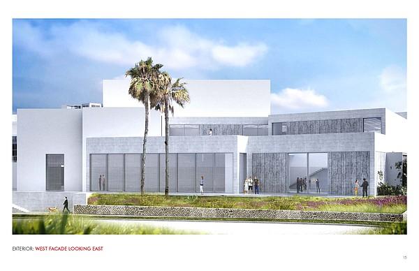 The proposed design for the western facade of the museum ...