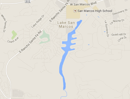 Lake San Marcos, courtesy of Google