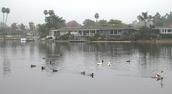 Houses on Lake San Marcos, Dec. 4, 2014.