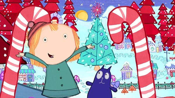 """A scene from the Cat + Peg episode, """"The Christmas Proble..."""