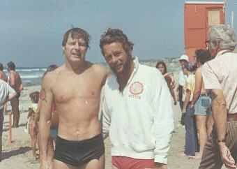 Jack Johnstone, the co-founder of the first triathlon, and Bill Phillips, the...