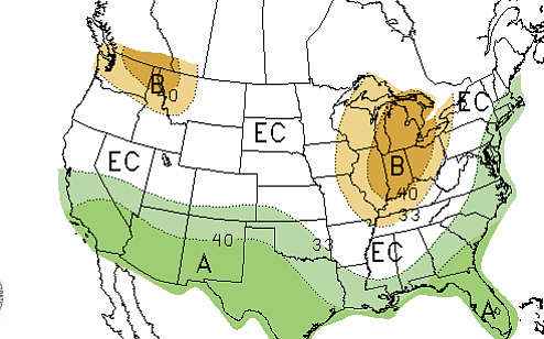 The Climate Prediction Center is projecting above average...