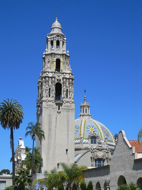 The California Tower and dome at Balboa Park's Museum of ...