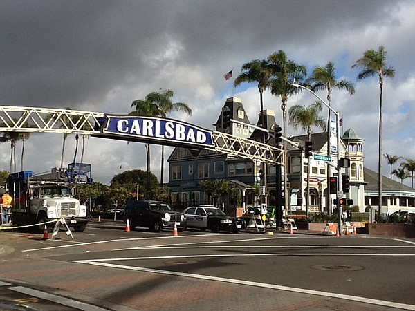 The Carlsbad sign on Tuesday morning, Dec. 30, 2014.