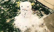 A snowman is shown after snow covered parts of Murrieta on Dec. 31,... (49493)