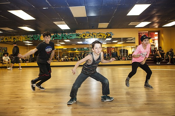 Some of the younger Culture Shock dancers rehearse for th...