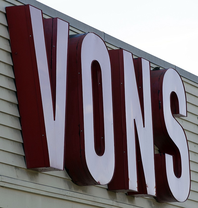 A Vons supermarket storefront in San Diego is shown. Safeway Inc. is the pare...
