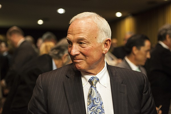 A portrait of former mayor Jerry Sanders, now the CEO of ...