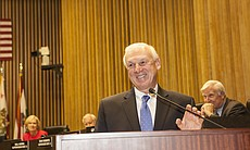 District 4 County Supervisor Ron Roberts is sho...