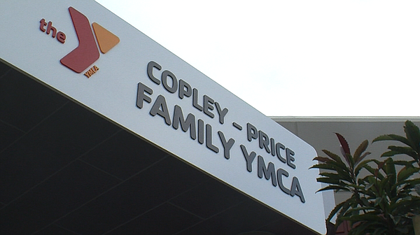 A sign that reads Copley-Price Family YMCA is shown.