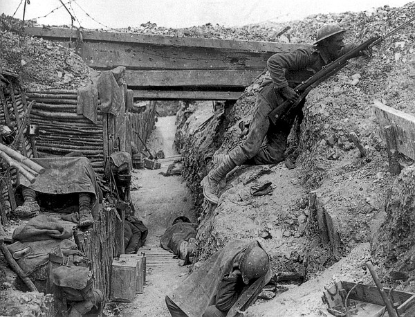Trenches of the 11th Cheshire Regiment at Ovillers-la-Boi...