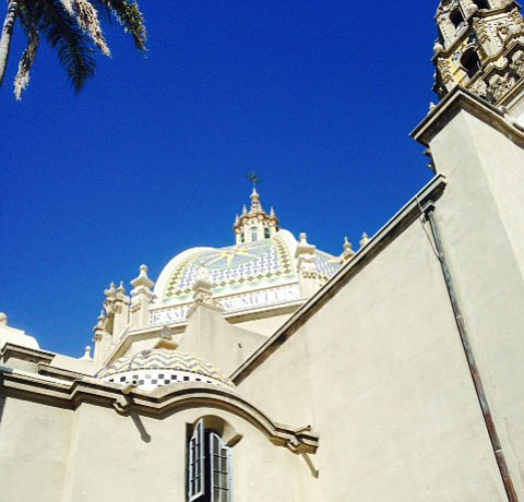 Current view of Balboa Park's California Tower.