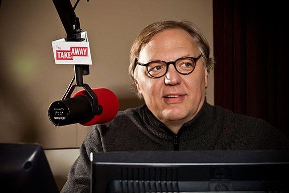The Takeway host John Hockenberry.  The Takeaway airs Mon...