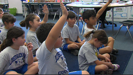 First-graders at Blessed Sacrament Parish School in San D...
