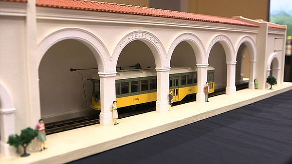 A model trolley station that will be included in the San ...
