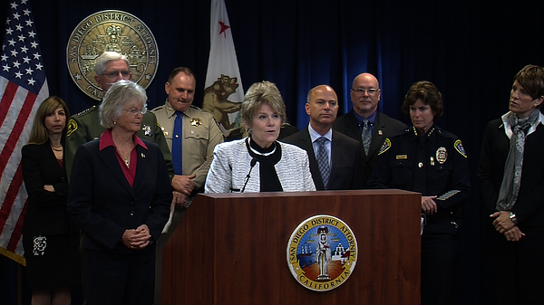District Attorney Bonnie Dumanis and other San Diego Coun...